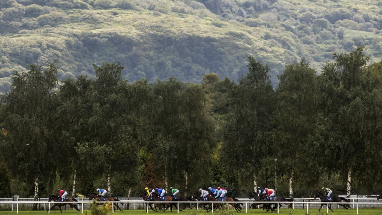 Racing in the shadow of an unmistakable backdrop