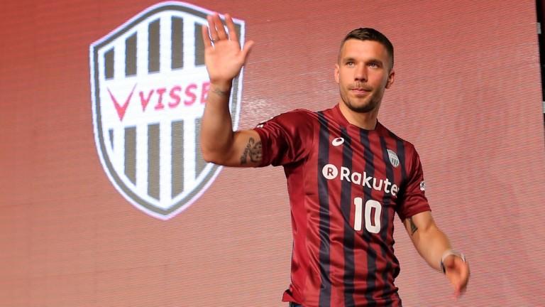 Vissel Kobe striker Lukas Podolski