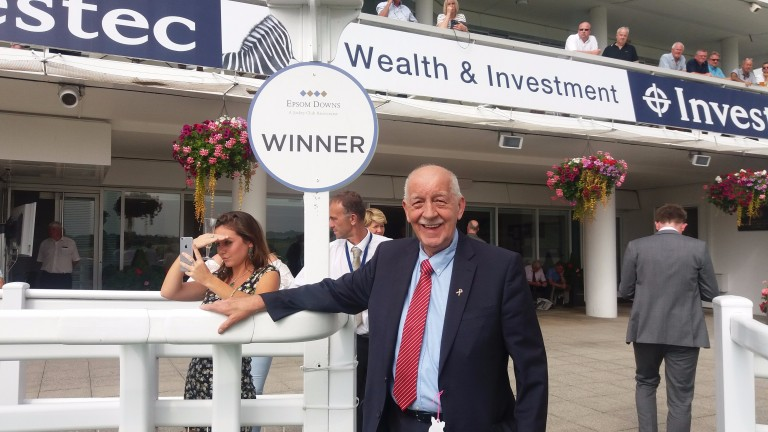 Evan Sutherland celebrates another win at Epsom for Highland Acclaim