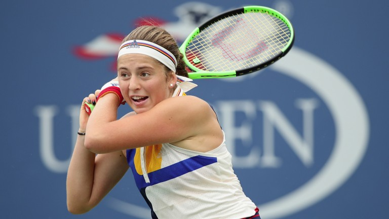 Jelena Ostapenko was a little stop-start in her opening win