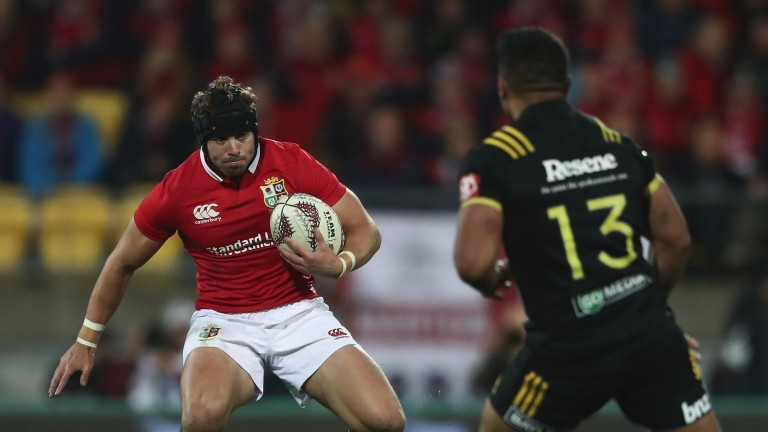 Leigh Halfpenny in action for the Lions