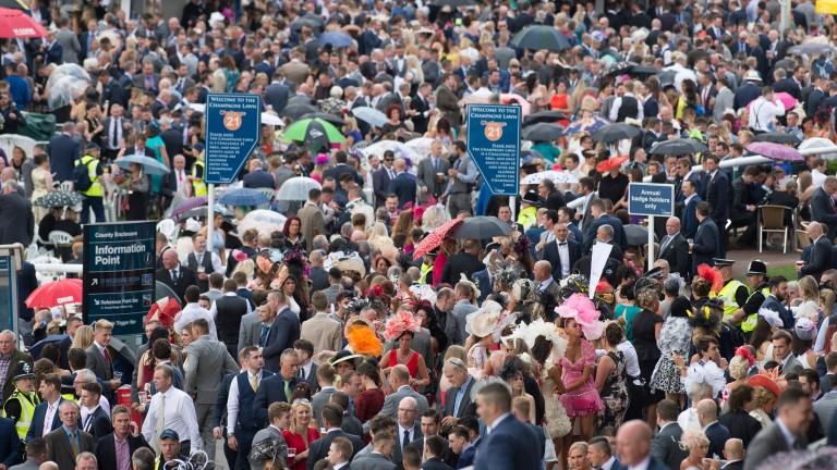 Racegoers flock to the track for St Leger day