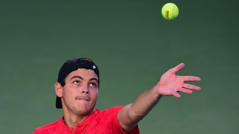 Taylor Fritz made light work of Marcos Baghdatis in round one