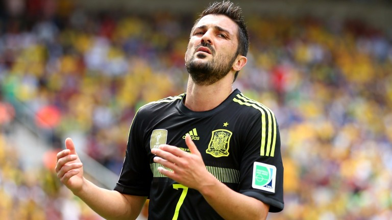 Veteran David Villa returns for Spain after a three-year absence