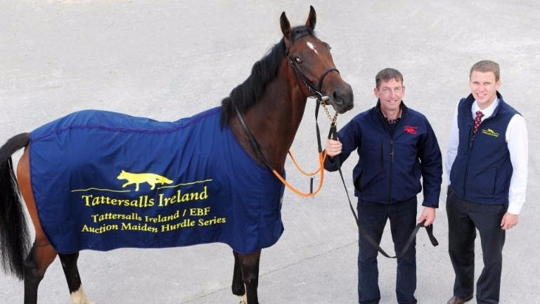 Gavin Cromwell (left) and Kenneth Fenton of Tattersalls Ireland launch the new series