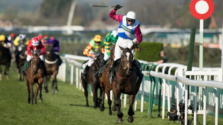 One For Arthur wins the Grand National under Derek Fox and is back in action on Saturday