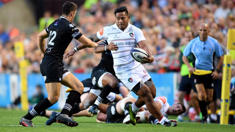 Manu Tuilagi in pre-season action for Leicester against Ospreys