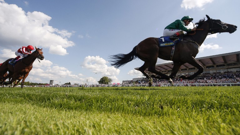 Aljazzi goes one place better than at Royal Ascot in the Atalanta Stakes at Sandown on Saturday