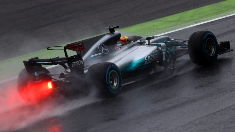 Lewis Hamilton mastered terrible conditions to claim pole position