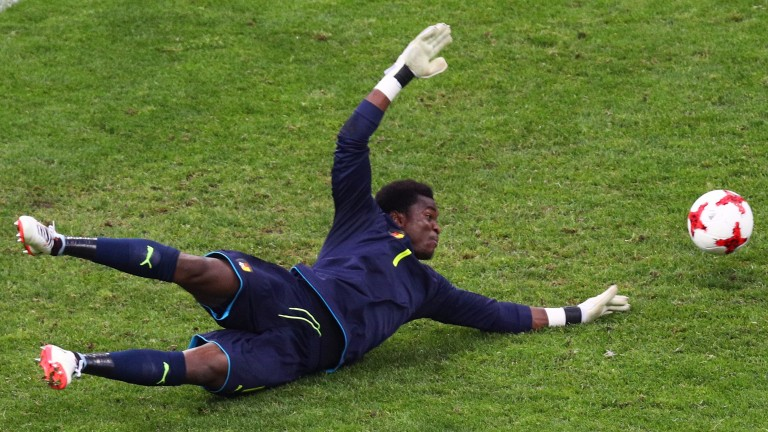 Cameroon goalkeeper Joseph Ondoa could be busy