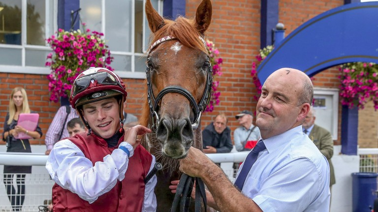 Royal Line and James Doyle in the winner's enclosure