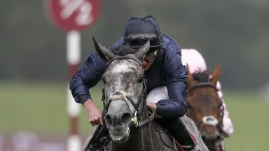 CHICHESTER, ENGLAND - AUGUST 03:  Ryan Moore riding Winter win The Qatar Nassau Stakes on day three of the Qatar Goodwood Festival at Goodwood racecourse on August 3, 2017 in Chichester, England. (Photo by Alan Crowhurst/Getty Images)