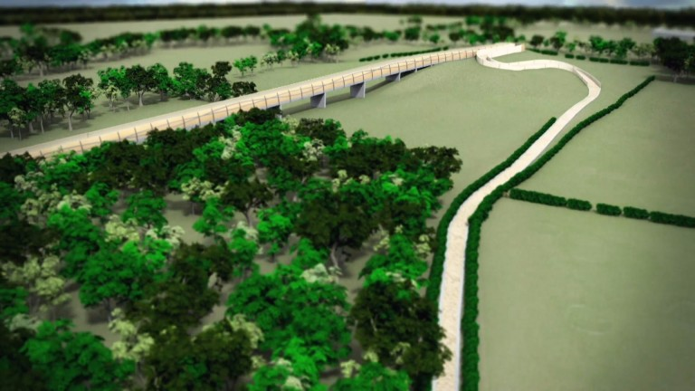 An overhead view of the proposed Hill Gallop at Newmarket
