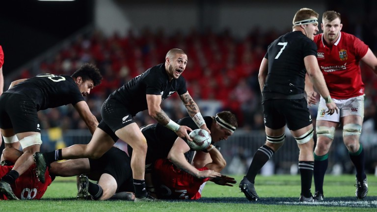 Scrum-half TJ Perenara is often in the thick of the action for the All Blacks