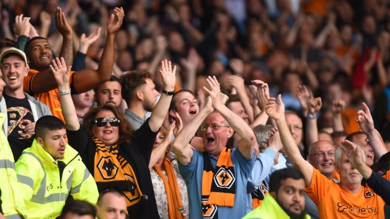 Wolves fans cheer their team