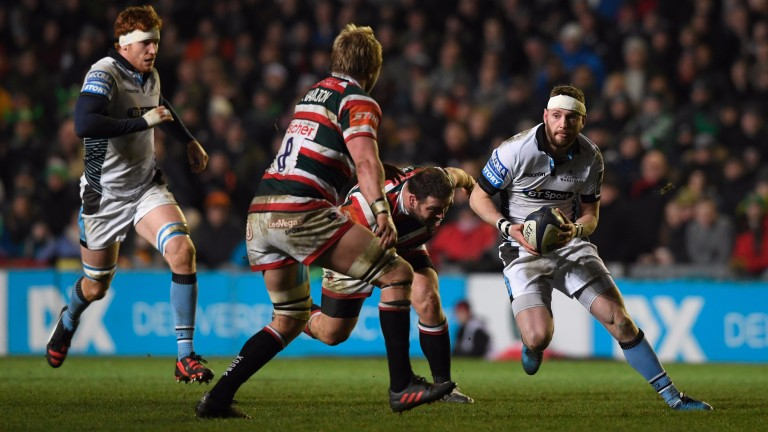 Fly-half Finn Russell (right) is Glasgow's creative price