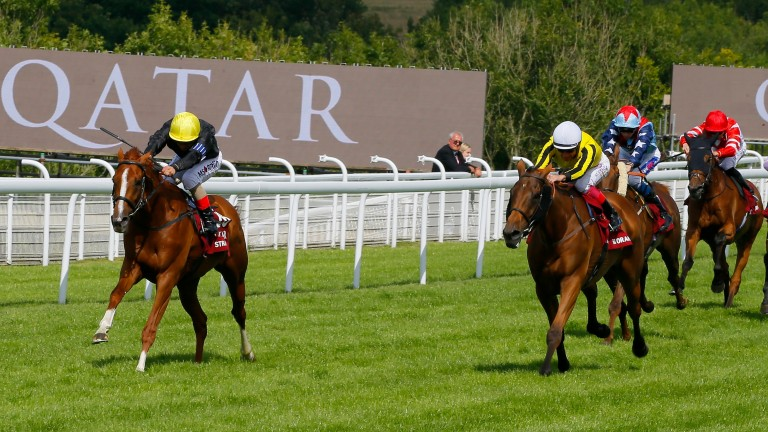 Stradivarius pulls clear in the Goodwood Cup