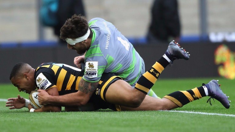 Marcus Watson showed his speed for Wasps in the Premiership Rugby Sevens