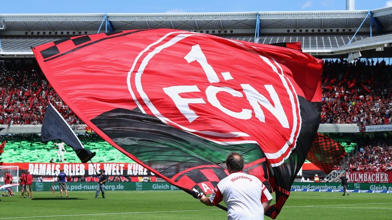 Nuremberg fans have been flying the flag in Bundesliga 2