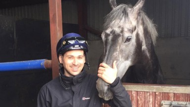 Lee Newman, pictured with the now-retired Silver Duke, rode out for Jim Goldie on a recent visit home to Scotland