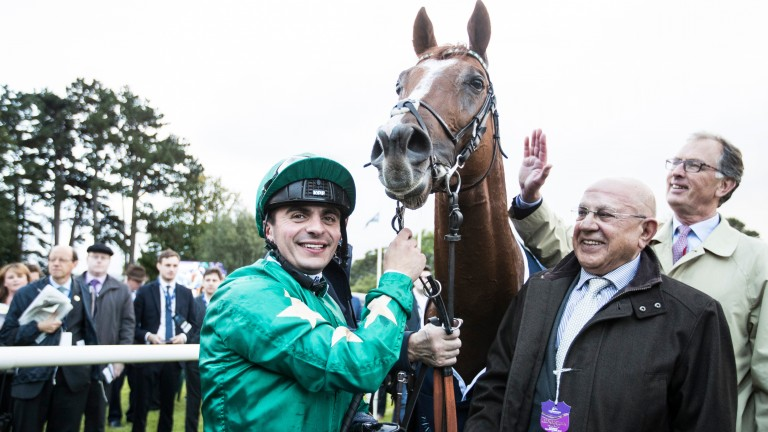 Decorated Knight showed he could handle some cut in the ground when flying home late to land the Irish Champion Stakes on Saturday
