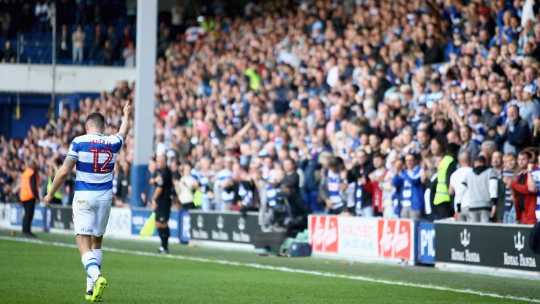Jamie Mackie celebrates a goal for Queens Park Rangers