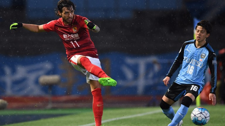 Brazilian attacking midfielder Ricardo Goulart (11) is likely to be at the heart of Guangzhou Evergrande's search for goals