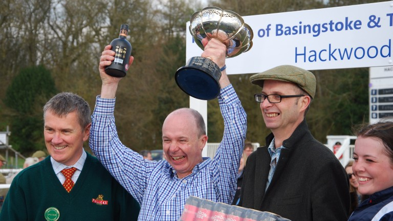 Steve Dennis - On Location at Hackwood Park Point to point. Winning owner-trainer Luke Harvey