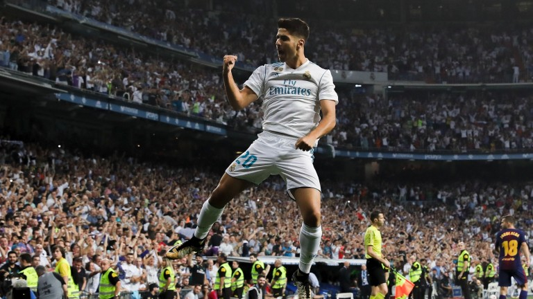 Real star Marco Asensio scored in last year's Champions League final