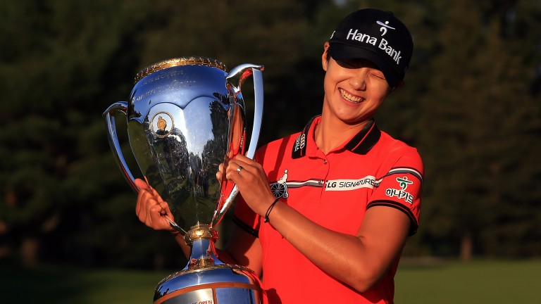 Canadian Pacific Women's Open champion Sung Hyun Park with her trophy