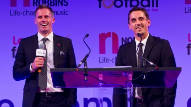 Jamie Carragher (left) and Gary Neville have become top pundits