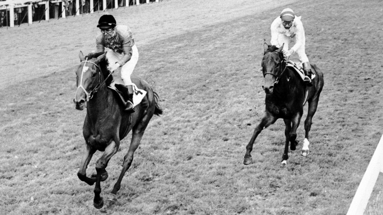 Dunfermline wins the St Leger from Alleged at Doncaster on Silver Jubilee year