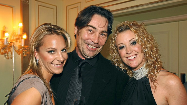 Nathaniel Parker pictured with Emma Spencer (left) and Chanelle McCoy