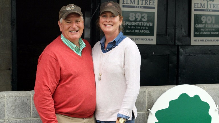 Jody and Michelle Huckabay enjoyed a spectacular payday with a son of freshman Will Take Charge