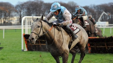 The desperate conditions at Haydock are no problem at all for Safran De Cotte and Jake Greenall