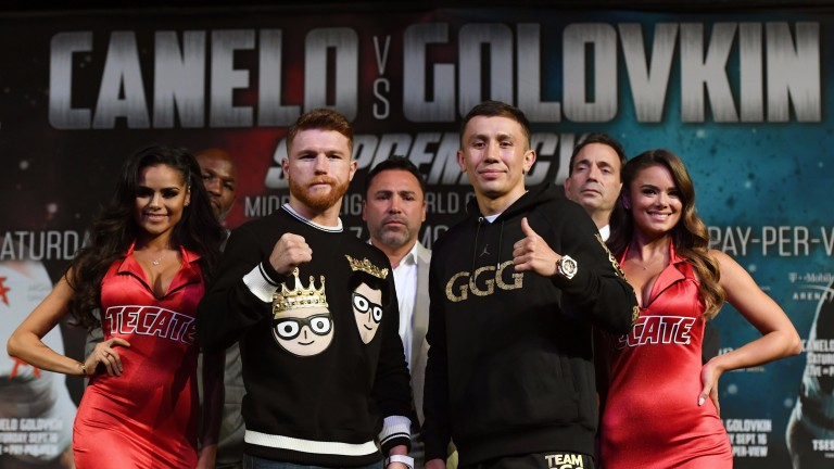 Canelo Alvarez (left) and Gennady Golovkin