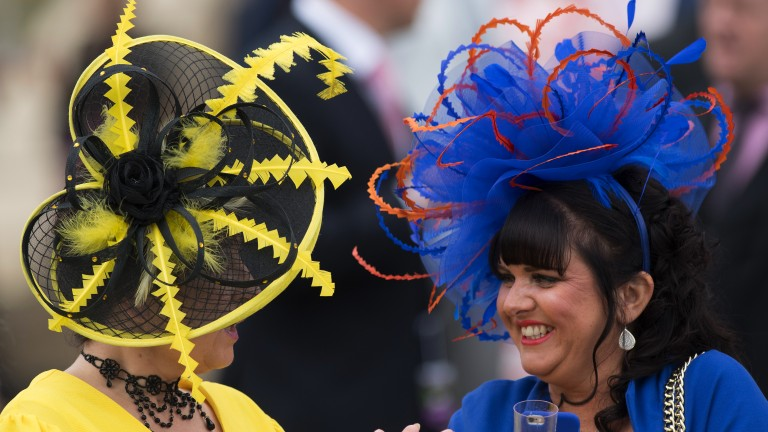Fancy hats: fashion is on show for day three on Town Moor