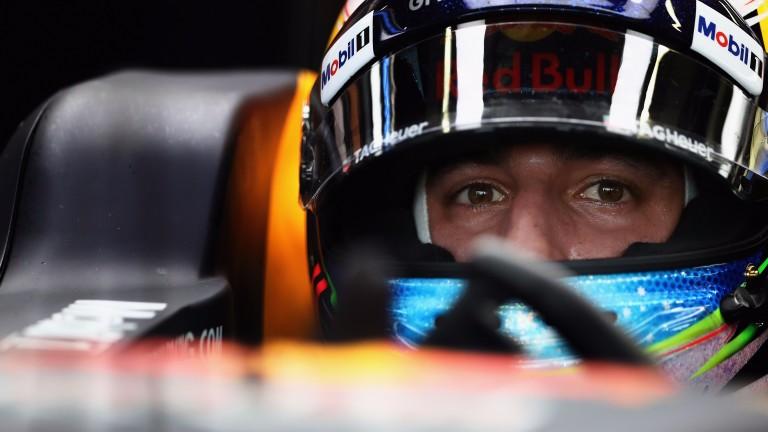 Red Bull's Daniel Ricciardo prepares to head out onto the Marina Bay circuit