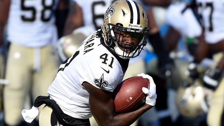 New Orleans running back Alvin Kamara