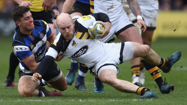 Joe Simpson is a tryscoring threat for Wasps
