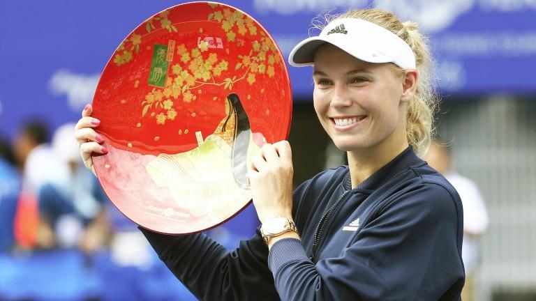 Defending Pan Pacific champ Caroline Wozniacki