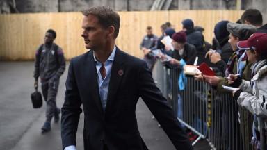 Former Crystal Palace manager Frank de Boer