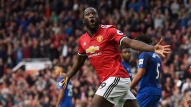 Romelu Lukaku celebrates against former club Everton