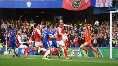 Shkodran Mustafi put the ball in the net for Arsenal but was ruled offside