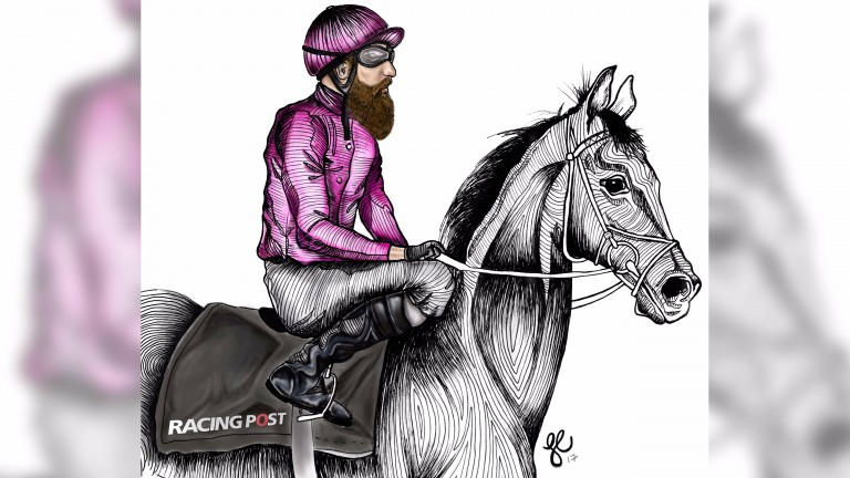 Rocking the look: how a jockey might look with a hipster beard