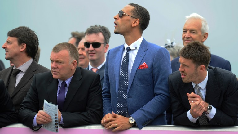 Rio Ferdinand pictured at Chester racecourse in 2013