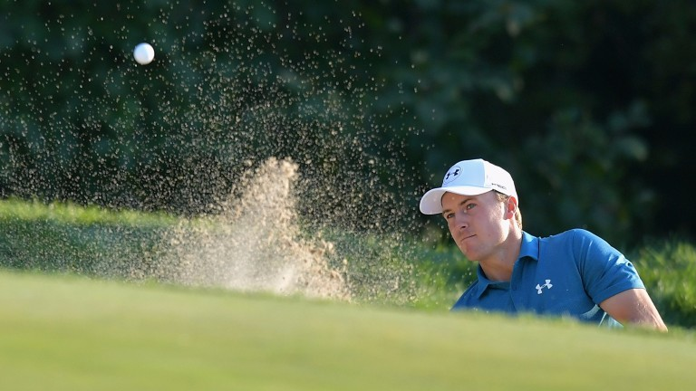 Jordan Spieth will take a two-shot lead into the second round of the Masters