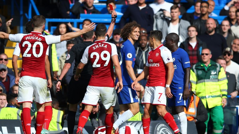 David Luiz saw red for a ridiculous foul against Arsenal