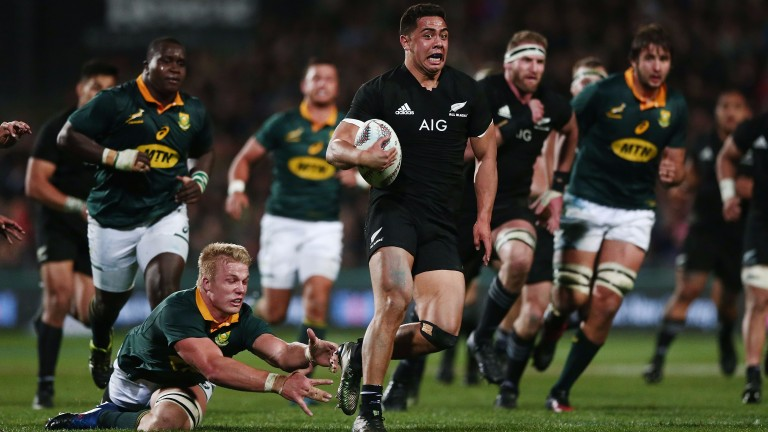 New Zealand in action against South Africa
