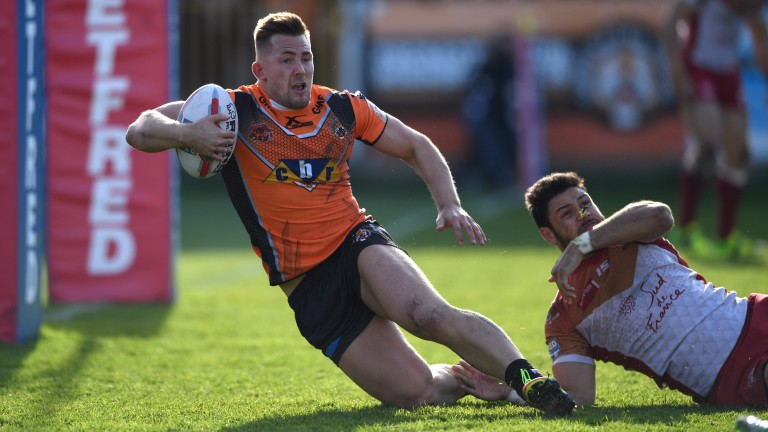 Greg Eden of Castleford needs three more tries to break Denny Solomona's record of 40 tries in a Super League season